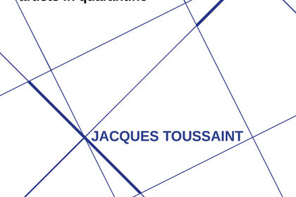 The artist's desk: artists in quarantine | JACQUES TOUSSAINT @valmoreart