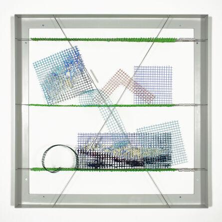 William Tillyer, 'Three Green Studio Shelves - The Mulgrave Tensile Wire Works', 2020