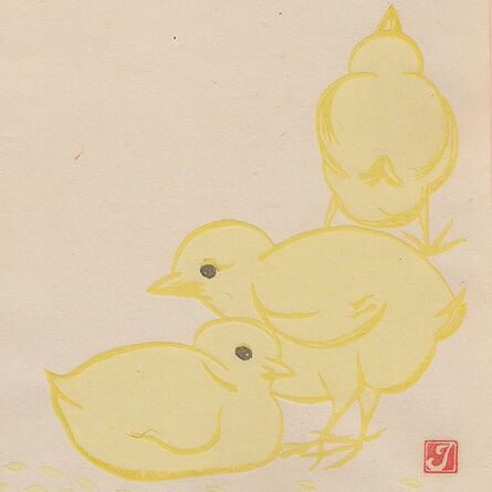 "Prosper-Alphonse Isaac, '""Les trois poussins""', ca. 1914"