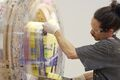 Anton Alvarez Brings His Giant Thread Wrapping Machine to Salon 94
