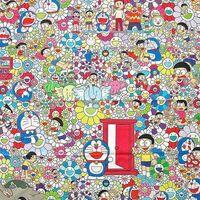 Takashi Murakami, 'Takashi Murakami x Doraemon Fabric Print (Tokyo Exclusive) (Large), 2017', 2017