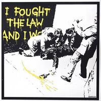 Banksy, 'I Fought The Law (Yellow AP)', 2004