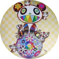 Takashi Murakami, 'Panda, Panda cubs and flower ball', 2020