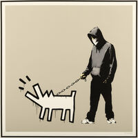 Banksy, 'Choose Your Weapon (Warm Queue Jumper Grey)', 2010