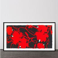 Donald Sultan, 'Lantern Flowers Red, Feb 17, 2012', 2012
