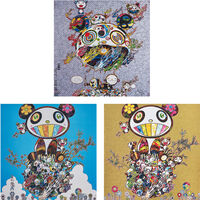 Takashi Murakami, 'Chaos; Panda Family- Happiness; and Panda Family', 2013-16