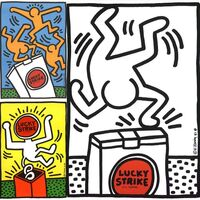 Keith Haring, 'Keith Haring Lucky Strike 1987: Set of 3 ', 1987