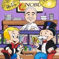 Alec Monopoly, 'Richie + Monopoly $ Sushi at Nobu', 2021