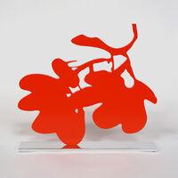 Donald Sultan, 'Big Red Lantern Flowers, April 16, 2014', 2014