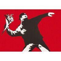 Banksy, 'Love Is In The Air (Signed)', 2003