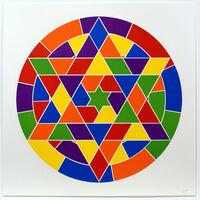 Sol LeWitt, 'Tondo 4 (6 point star)', 2002