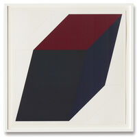 Sol LeWitt, 'Forms Derived from a Cube (Colors Superimposed), Plate #03', 1991