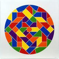 Sol LeWitt, 'Tondo 6 (8 point star)', 2002