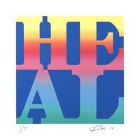 Robert Indiana, 'HEAL (blended variation)', 2014