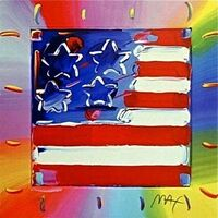 Peter Max, 'Heart with Flag III', 2003