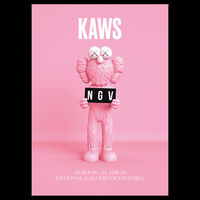 KAWS, 'KAWS x NGV BFF Framed Poster (Pink & Blue), 2019', 2019