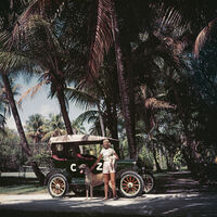 Slim Aarons, 'CZ & Friends in a Model T, Palm Beach (Slim Aarons Estate Edition)', 1955