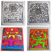 """Keith Haring, 'SET of TWO- """"POP SHOP NYC"""", 1980's, Plastic Drawstring Shopping Bag, Double-Sided.', 1980's"""