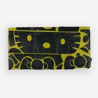 Tom Sachs, 'Hello Kitty (black and yellow tape)'