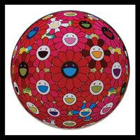 Takashi Murakami, 'Flowerball (3D) Red, Pink, Blue.', 2013