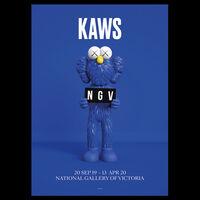 KAWS, 'KAWS x NGV BFF Poster (Blue), 2019', 2019
