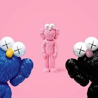 KAWS, 'BFF (Full Set of 3 colors Black, Blue & Pink)', ca. 2017-2018