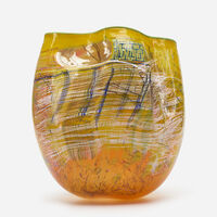 Dale Chihuly, 'Yellow Soft Cylinder with Green Lip Wrap', 1993