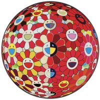 Takashi Murakami, 'Flowerball Red (3D) The Magic Flute', 2010