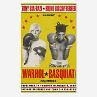 Andy Warhol, 'Warhol/Basquiat Paintings exhibition poster', 1985