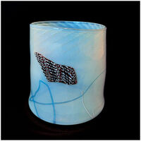 Dale Chihuly, 'Dale Chihuly ORIGINAL HAND BLOWN Glass Soft Cylinder Signed Artwork Blanket Blue', Late 20th Century
