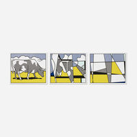 Roy Lichtenstein, 'Cow Triptych (Cow Going Abstract)', 1982