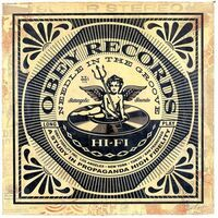 Shepard Fairey (OBEY), 'Satangelic Sounds', 2013