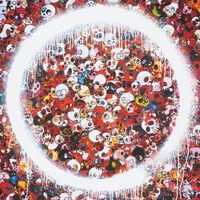 Takashi Murakami, 'Ensō: Memento Mori Red', 2015