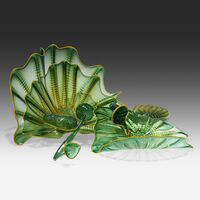 Dale Chihuly, 'Dryad Green Persian Set with Goldenrod Lip Wraps', 1997