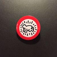 Keith Haring, ''Radiant Baby' Button (Galerie Watari, Tokyo)', 1983