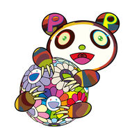 Takashi Murakami, 'A child's panda hugging a flower ball', 2020