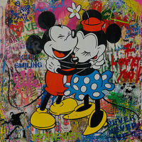 Mr. Brainwash, 'Mickey and Minnie', 2020
