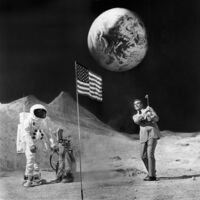 Terry O'Neill, 'James Bond on the moon (playing golf)', 1971
