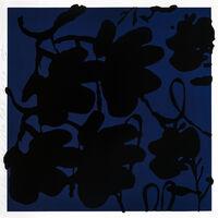 Donald Sultan, 'LANTERN FLOWERS, BLACK AND BLUE', 2017