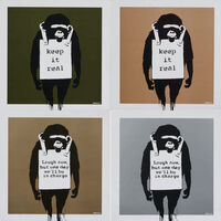 Banksy, 'Laugh now / Keep it Real Record Set of 4', 2008