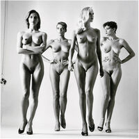 """Helmut Newton, 'Sie Kommen  """"Undressed"""" (Signed and Unsigned edition) ', 1984"""
