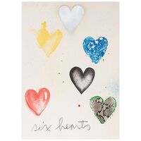 Jim Dine, 'Six Hearts', 1970