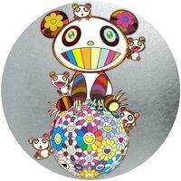 Takashi Murakami, 'Panda Family & Flowerball (Silver)', 2020