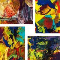 Gerhard Richter, 'P8, P9 P10, P11 (Flow) - Set of 4 prints', 2014