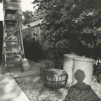 Vivian Maier, '0129834 - Chicago area, 1966, Self-Portrait Shadow in Yard', Printed 2017