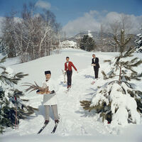 Slim Aarons, 'Skiing Waiters', 1960