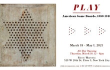 PLAY:American Game Boards, 1880 - 1940