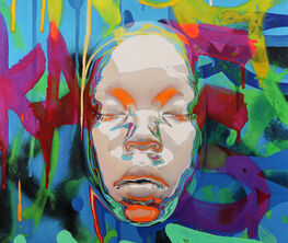 Kip Omolade  |  Masks: Portraits of Times Square and Luxury Graffitti