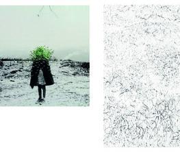 Gisoo Kim _Extended Spaces // Irene Weingartener _Walking through Nothing > Space > Dot >