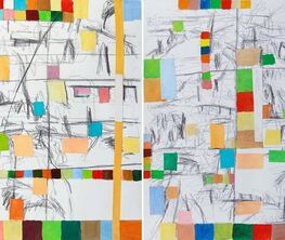 Hearne Pardee: N/S/E/W: Painting Drawing Collage